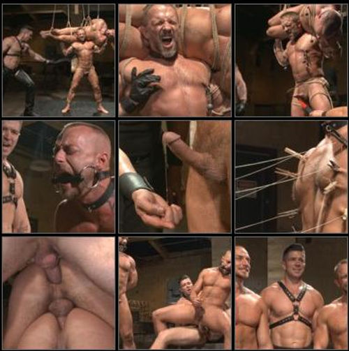 bound gods threesome gay bdsm